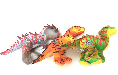 Jurassic World Dinosaur Plush Doll Set - 3 Pieces Set 7 inches