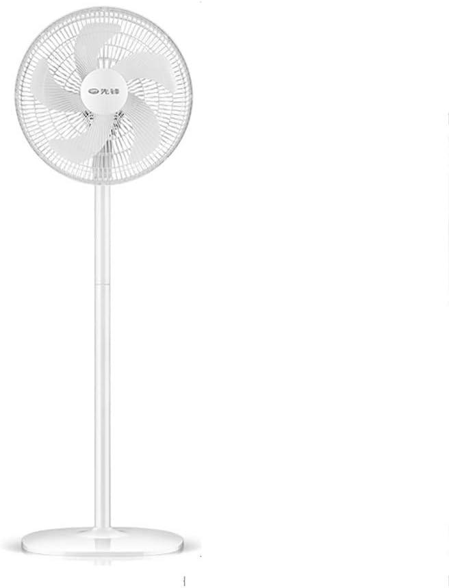 Ventilador de pedestal blanco con control remoto, silencioso ventilador de pie oscilante con temporizadores de 8 horas, ventilador de enfriamiento 3 configuraciones de velocidad, altura ajustable de 3