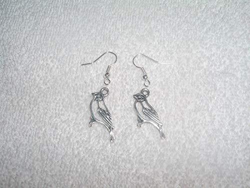 (Bird Animal Perch Pair of Earrings Jewelry Piercing Fashion Custom Handmade #IS-174)