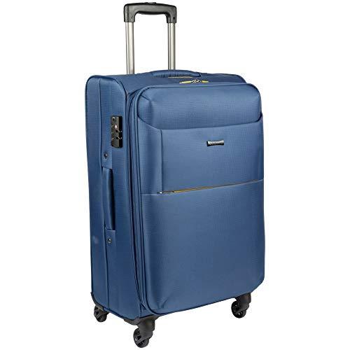 Mala Viagem Grande Azul Tsa C/carrinho 360° Fusion Sestini