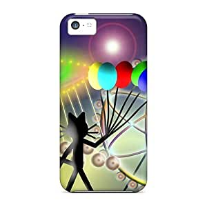 Case Cover Cat Kittycat Balloons/ Fashionable Case For Iphone 5c