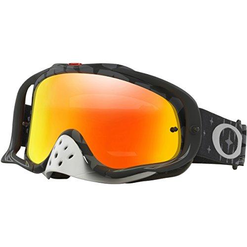 Oakley Crowbar TLD Megaburst Black with Fire Irid unisex-adult Goggles (Black, Medium), 1 Pack