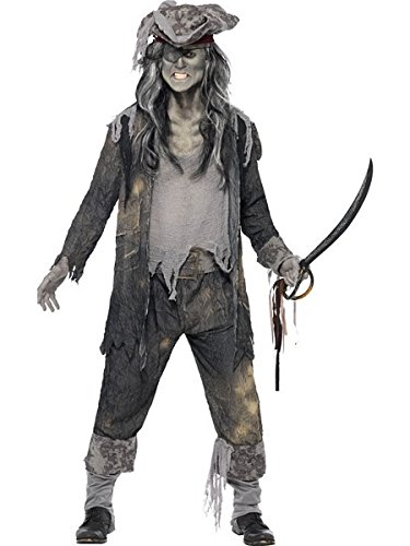 [Smiffy's Ghost Ship Ghoul Costume, Multi, Large] (Ghost Pirate Costume)