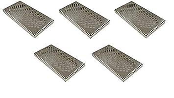 Bandeja de goteo de acero inoxidable, 300 x 150 x 23 mm ...