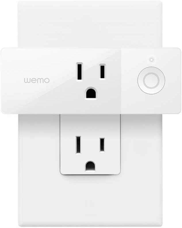 Wemo Mini Smart Plug Compatible with Alexa, Google Assistant & Apple HomeKit, 3-pack (Certified Refurbished)