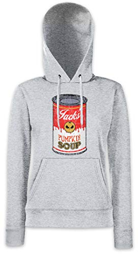 Jack's Pumpkin Soup I Women Hoodie Hooded Sweatshirt Pullover Grey -