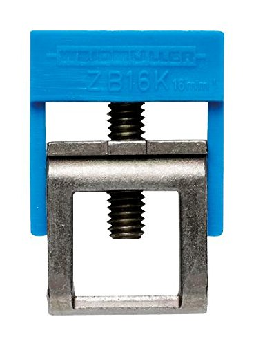 WEIDMULLER, 475360000, Clamping Yoke, Feed-through, Steel, For Use With 10mm x 3mm Busbars, 12AWG, 20AWG