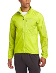 (新低)Outdoor Research 男士户外防水冲锋衣 嫩黄$33.24 Men's Redline Jacket