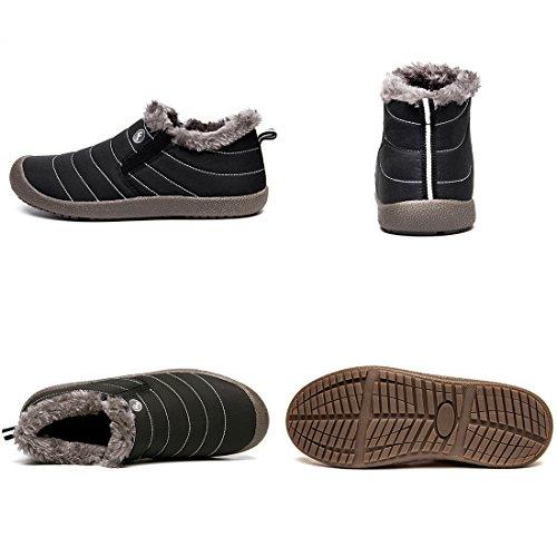 Shoes for Slip Low Top XIDISO Ankle Black Snow Men Boot Slip Women Waterproof Lightweight Winter Boots On Booties Anti qEvETB8