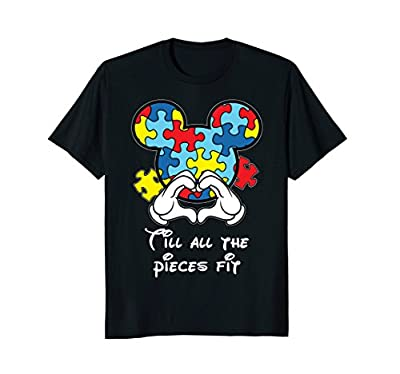 Till All The Pieces Fit Funny World Autism Awareness T-Shirt