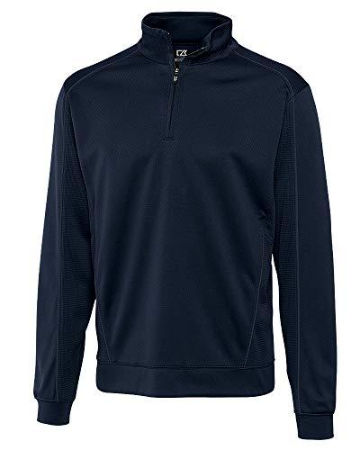 - Cutter & Buck BCK08861 Men's CB Drytec Edge Half Zip Sweater, Solid Navy Blue, 3X Tall