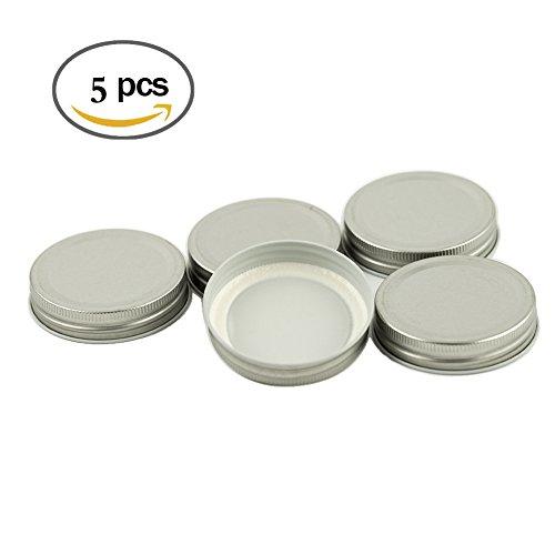 Mason Jar Solid Lids (5 Pack) - Solid Wide Mouth Mason Jar Lids