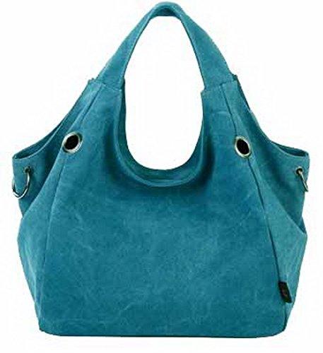 VogueZone009 Mujeres Bolsas de Mano ToteStyle Bolsas de Hombro,CCAYBP180745 Azul