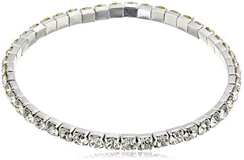 Fashion Silver Rhinestone Elastic Single Row Ankle Anklet Bracelet