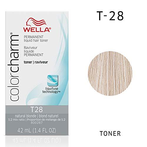 Wella Color Charm Permanent Liquid Hair Toner (T28 Natural Blonde)