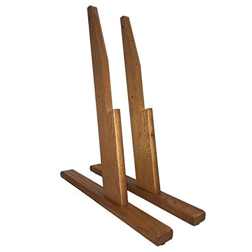 Wooden Mallet Optional Floor Stand for 4H Slope Displays, Medium - Literature Oak Display Stand