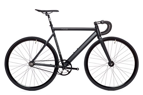 Matte Black Black Label 6061 v2 Aluminum State Bicycle | Fixed Gear | 49cm Drop Bar