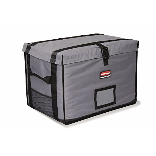 Rubbermaid ProServe Cool Grey Nylon Top Load Full Pan Insulated Food Delivery Bag - 28