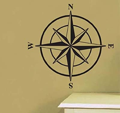 Compass Travel Nautical Vinyl Wall Art Sicker Decal Many Colors