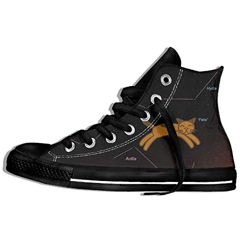 Price comparison product image Orange Cat Constellation Canvas High Top Sneaker Lace-up Board Shoes Unisex