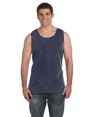 (Comfort Colors Ringspun Garment-Dyed Tank (C9360)- DENIM, XL)