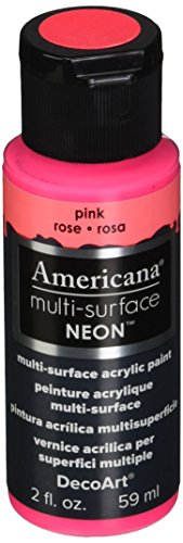 DecoArt Americana Multi-Surface Neon Paint, 2-Ounce, Pink