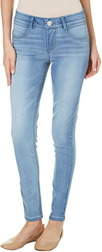 Jolt Women's Denim Techno Tuck Skinny Jean in Wash, Light, 13 (Women Light Wash)