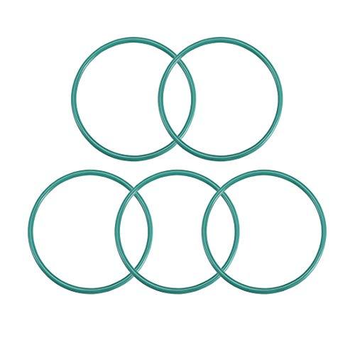 Seal Gasket Green 5Pcs 2.4mm Width uxcell Fluorine Rubber O Rings 46.2mm Inner Diameter 51mm OD