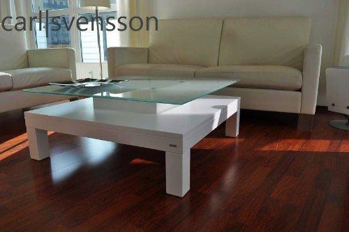 Carl Svensson Design Couchtisch Glas Tisch V 570 V 570h Milchglas