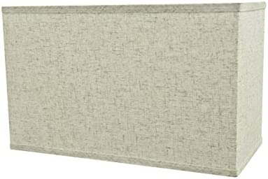 Aspen Creative 36006 Wide 8 16 x 10 Transitional Rectangular Hardback Shaped Spider Construction Lamp Shade, Beige
