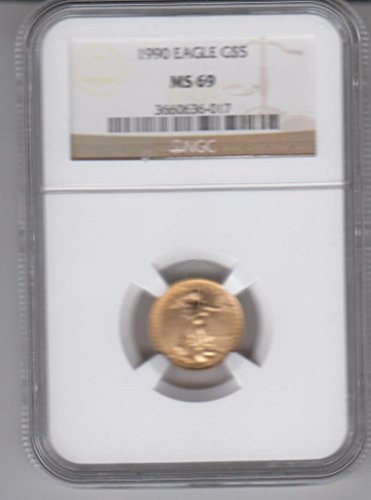 Certified Gold Coin - 1990 American Gold Eagle 1/10 Ounce Gold Coin Graded and Certified $5 MS69 NGC