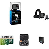 GoPro HERO6 Black w/ Head Strap, Carrying Case, Battery and Memory Card