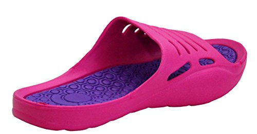 Casual 8 Scarpe Toe Sandali uk 3 Uk On Pool Sliders Fuchsia Con Lilla Donna Da 7 Taglie Infradito Slip Leggero Zeppa Leggings Beach Peep Summer Eva RqTO01xBWw