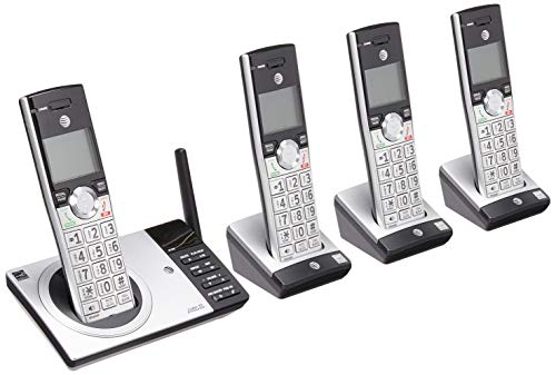 (ATT DECT 6.0 Cordless Phone With Digital Answering System, CL82415, 4 Handsets)