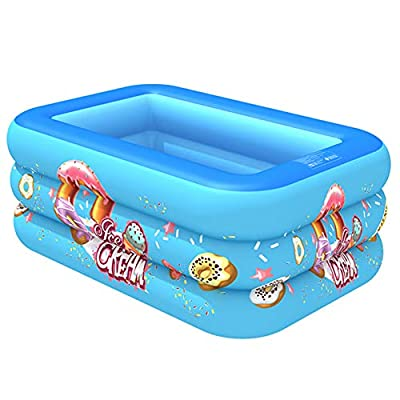 REDESS Inflatable Swimming Pool Swimming Center Family Pool Inflatable Lounge Pool for Kids, Kiddie, Adults, Easy Set Swimming Pool for Outdoor, Backyard, Summer Water Party, 51 x 34 x 20 in: Garden & Outdoor