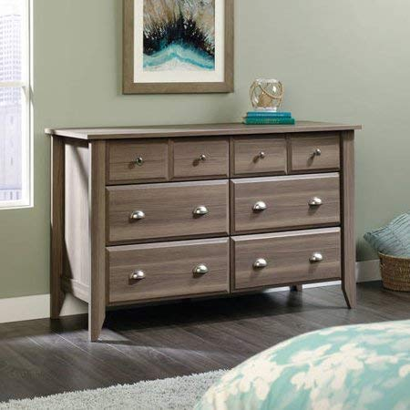 Diamond Ash 6-Drawer Dresser, Chest, Bedroom Furniture, Metal Runners, T-Lock, 4 Extra Deep Drawers, Made from Engineered Wood, Bundle with Our Expert Guide with Tips for Home Arrangement
