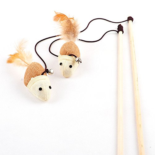 Remax Cat Toys Interactive with Bells Elastic Rod Has A Funny Cat Mouse Pumpkin Feather Chick Fish Mascotas Juguetes(3PCS/SET)