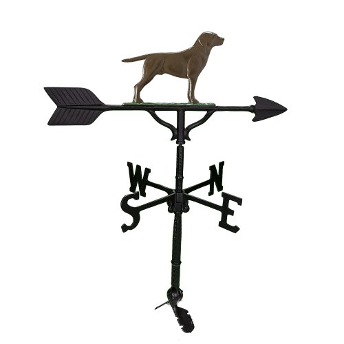 Montague Metal Products Aluminum Weathervane with Chocolate Lab, 32-Inch