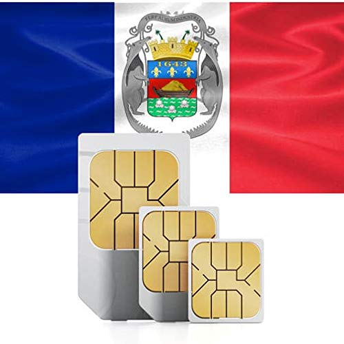 Prepaid 5GB High Speed Data SIM Card to use in USA or The Caribbean (Martinique, French Guyana, Saint Martin) (Best Uk Sim Card To Use In Usa)