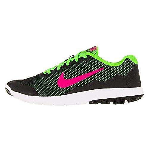 b676737e32d3 Nike Women s Flex Experience Rn 4 Black Pink Blast Electric Green White  Running