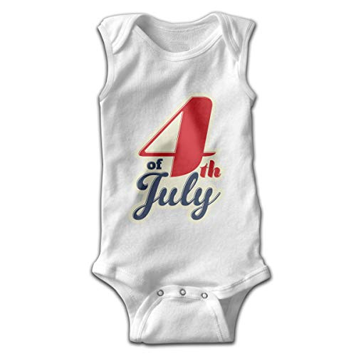 Sahaidak Baby Boys' Girls' Cotton Bodysuits 4 Th of July Independent Day -1 Sleeveless Romper Onesie Jumpsuit