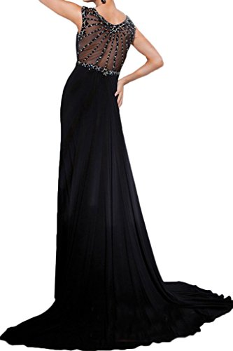 Missdressy Sexy Neu 2017 Chiffon Tuell Lang Schlitz Aermellos Abendmode Partykleid Promkleid Abiballkleid Abendkleid