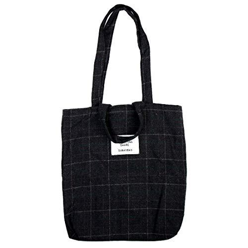 (ZCHXD Travel Cosmetic Books Holder Sundries Storage Plaid Pattern Handbag Messenger Shoulder Tote Bag)