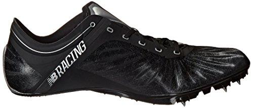 New Balance hombres del sd200V1pista Spike zapatos Negro / Plateado