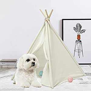 Amazon.com : UKadou Pet Teepee Tent for Dogs, Cute Dog