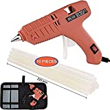 Bing Chen Hot Glue Gun, Full Size (Not Mini) 60W Power High Temp Heavy Duty Melt Glue Gun Case Set with 10 Pcs Glue Sticks(0.43'' x 8.7'') for Arts & Crafts Use, Deco,Ration/Gifts (60W-Orange)