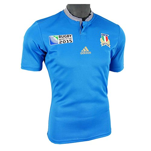 ITALY RWC 2015/2016 Men's Rugby Jersey, Blue, L by Italy