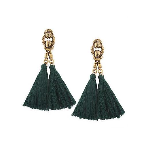 MJW&EH Femme Boucles d'oreille goutte Bijoux Gland Rétro Bohème euroaméricains Mode Coton Alliage Irrégulier Bijoux Mariage Anniversaire Pendre , one size