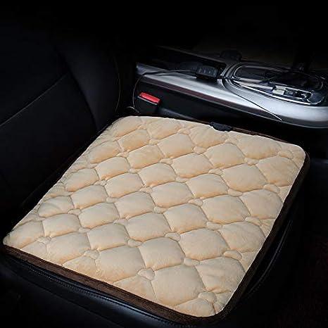 Autositzheizung, ONEVER Universal 12V beheizter Sitzwä rmer Auto beheizter Sitzkissen Heizkissen Cover Hot Warmer (Quadrat mit Schwarz)