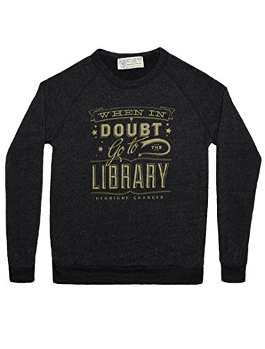 Out of Print Unisex Harry Potter When in Doubt (HPA) Fleece Small Eco Black -
